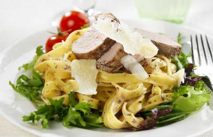 filé med pasta