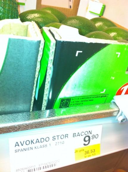 avokadi i låda