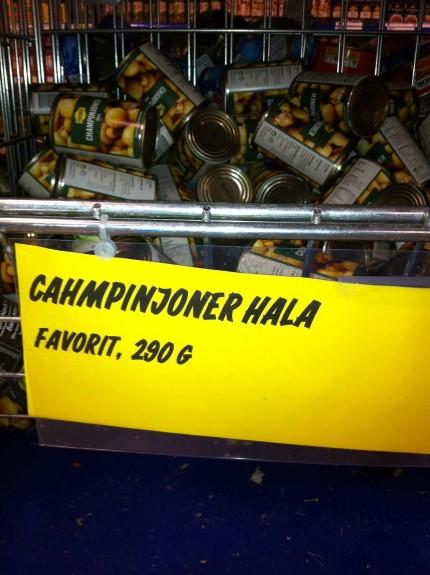 champinjoner på burk