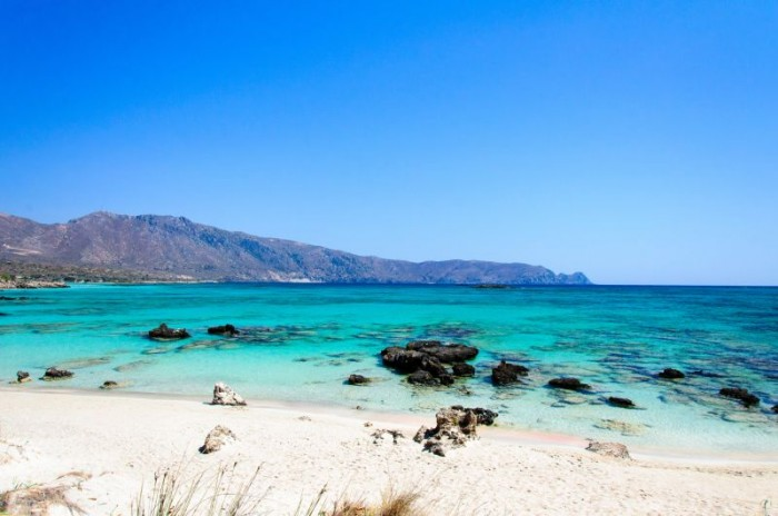 Elafonissi beach with  turquoise water, Crete, Greece