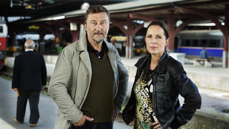 Janne Josefsson och Karin Mattisson. Foto: Sofia Sabel/SVT
