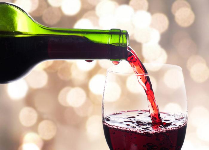 rött vin med lite socker