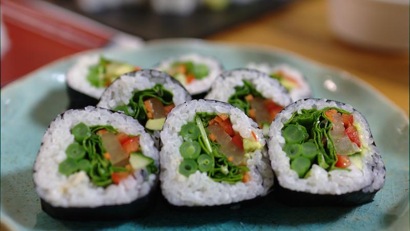 sushi med risvinäger