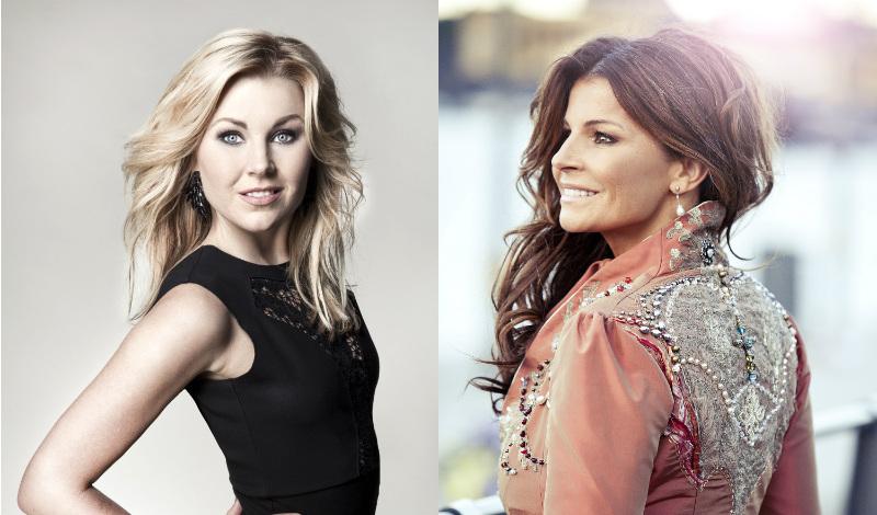 Elsa Lindström och Carola gästar Lotta på Liseberg i premiären. Foto: TV4