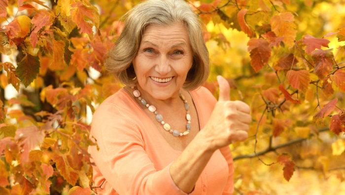 Kvinnlig pensionär.