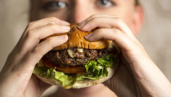 kalorier i en hamburgare