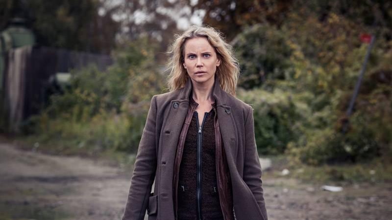 Sofia Helin som Saga Norén i tredje säsongen av Bron