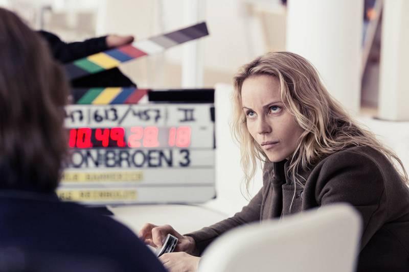 Sofia Helin som Saga Norén i Bron