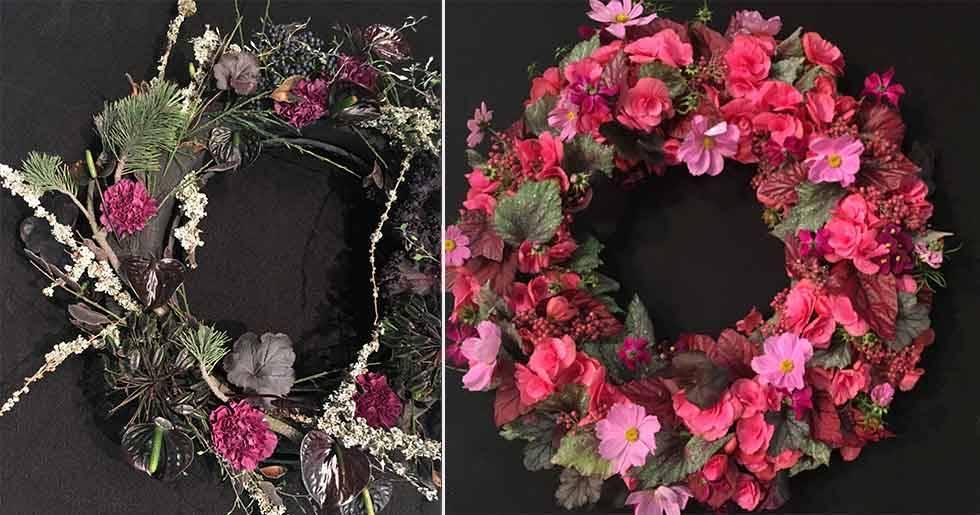 Svart stickmassa är en dekorativ nyhet. Du behöver inte sätta blommorna så tätt, låt stickmassan synas!
