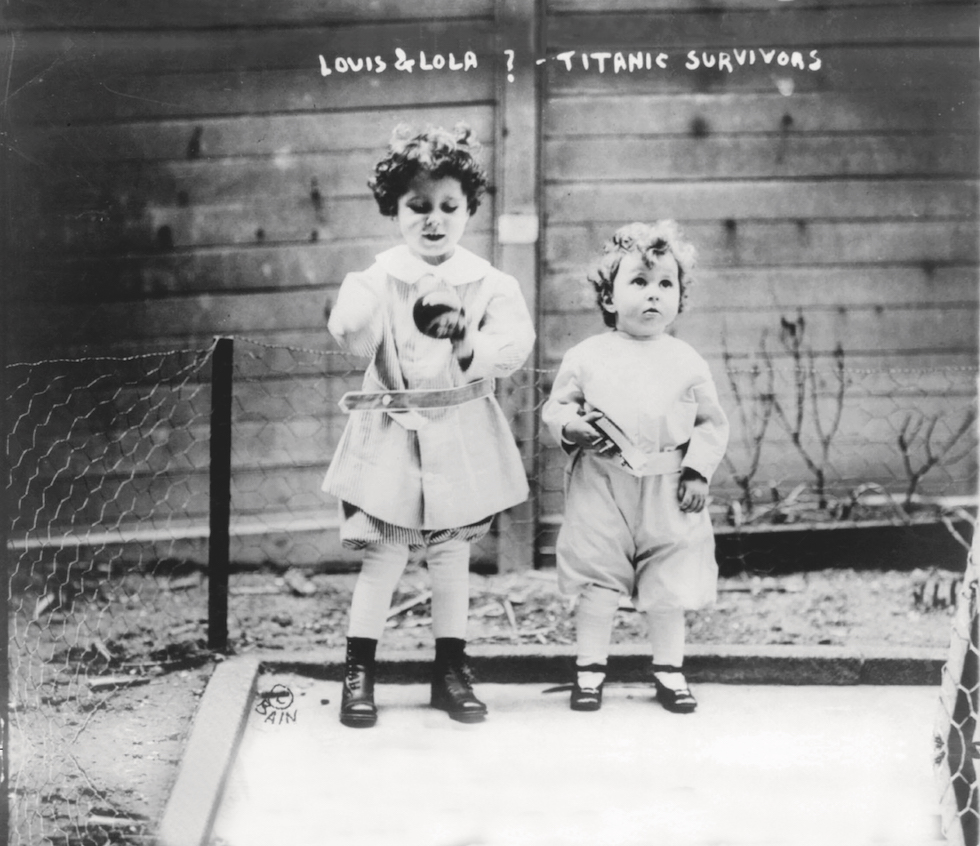 Små bröder överlevde Titanic