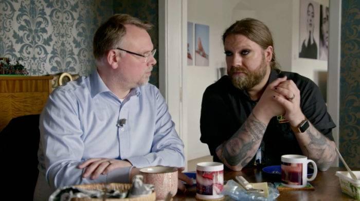 Anders och Rickard Söderberg i det gemensamma hemmet i Malmö.