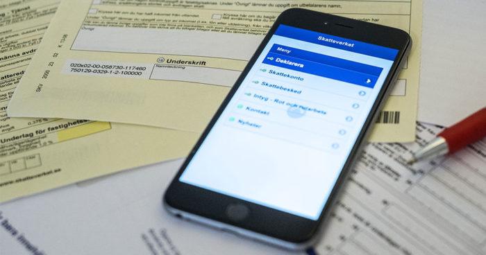 Många svenskar väljer att deklarera digitalt