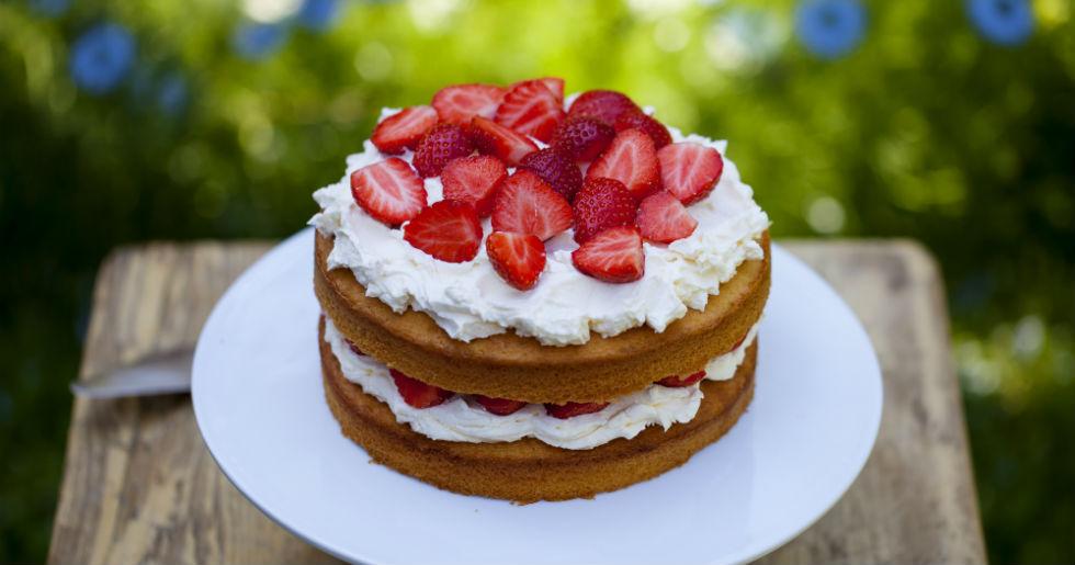 festlig tårta