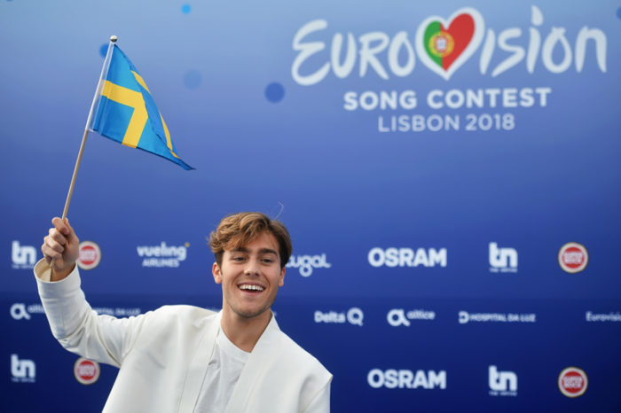 Benjamin Ingrosso i Lissabon, Portugal, inför Eurovision song contest 2018.