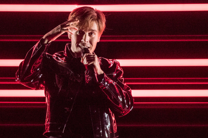 Benjamin Ingrosso i Eurovision song contest 2018.