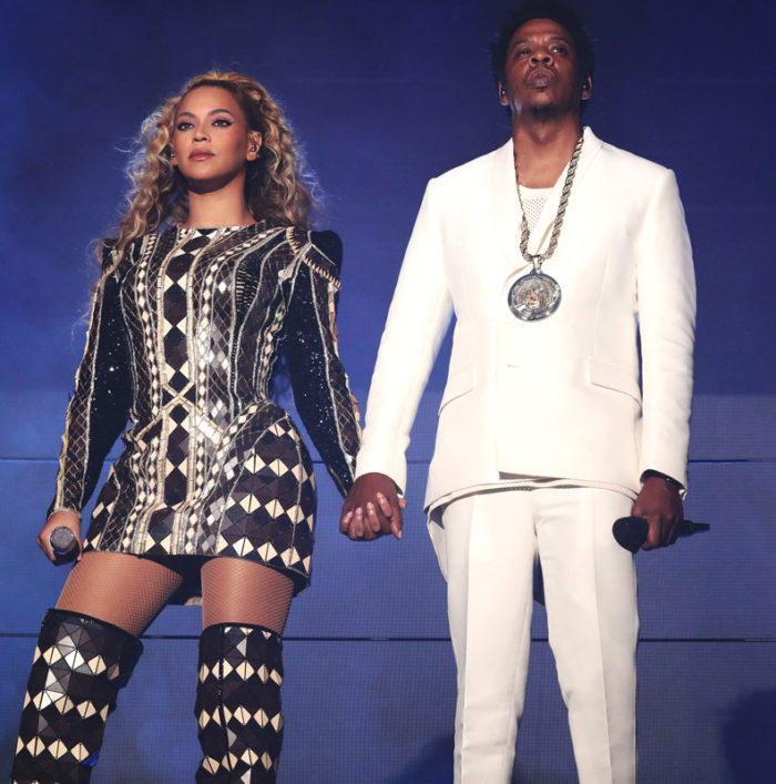 Beyonce Knowles och Jay Z i samband med