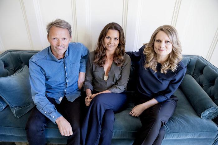 Felix Herngren, Clara Herngren och Moa Herngren i samband med Bonusfamiljen.