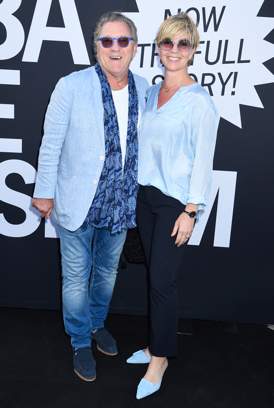 Tommy Körberg och hustrun Ann-Charlotte Nilsson på öppningen av ABBA The Museum i Stockholm i maj 2018.