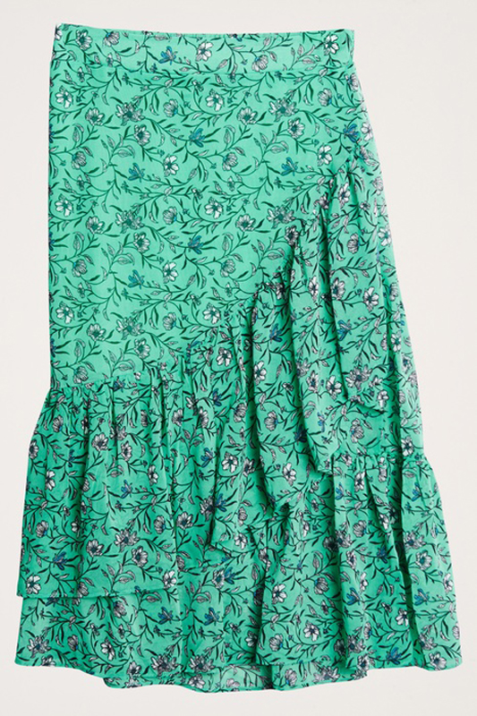 Grön blommig kjol från Gina Tricot.