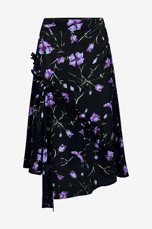 Svart blommig kjol från Ellos.