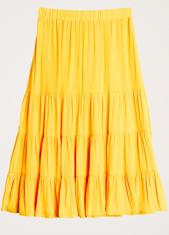 Gul kjol från Gina Tricot.