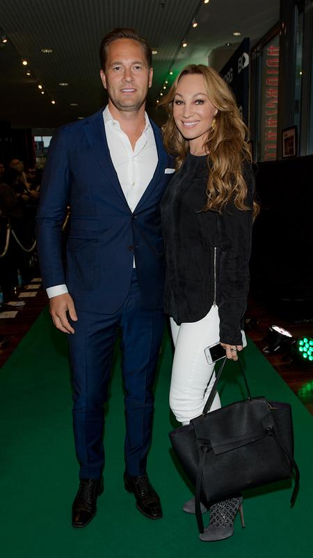 Anders Jensen och Charlotte Perrelli Galapremiären av Borg i Stockholm i september 2017.