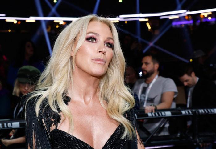 Jessica Andersson i samband med finalen av Melodifestivalen 2018 i Stockholm.