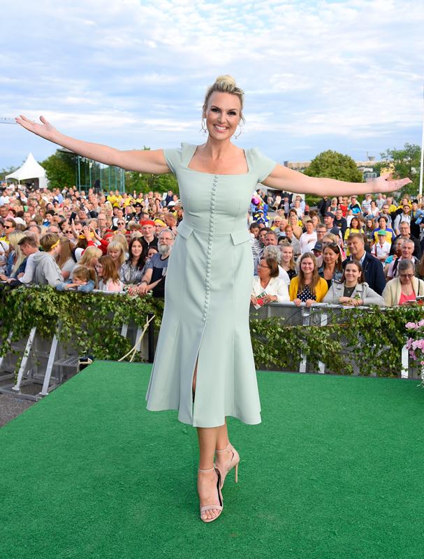 Sanna Nielsen i Allsång på Skansen 3 juli 2018.