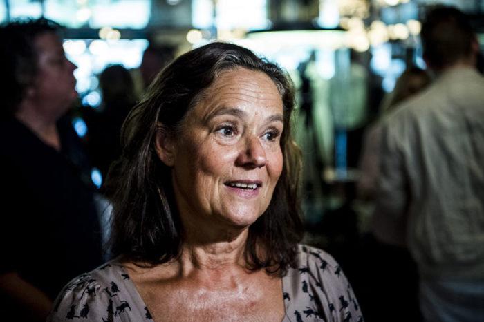 Pernilla August på Svenska filminstitutets presentation av de svenska filmpremiärerna hösten 2018.