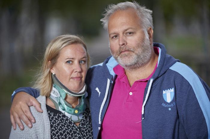Linda och Magnus Strandqvist i Helsingborg förlorade sin dotter Embla i en trafikolycka.