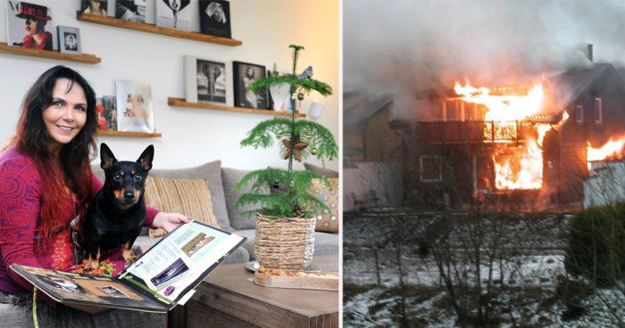 Trodde hela huset skulle brinna ned