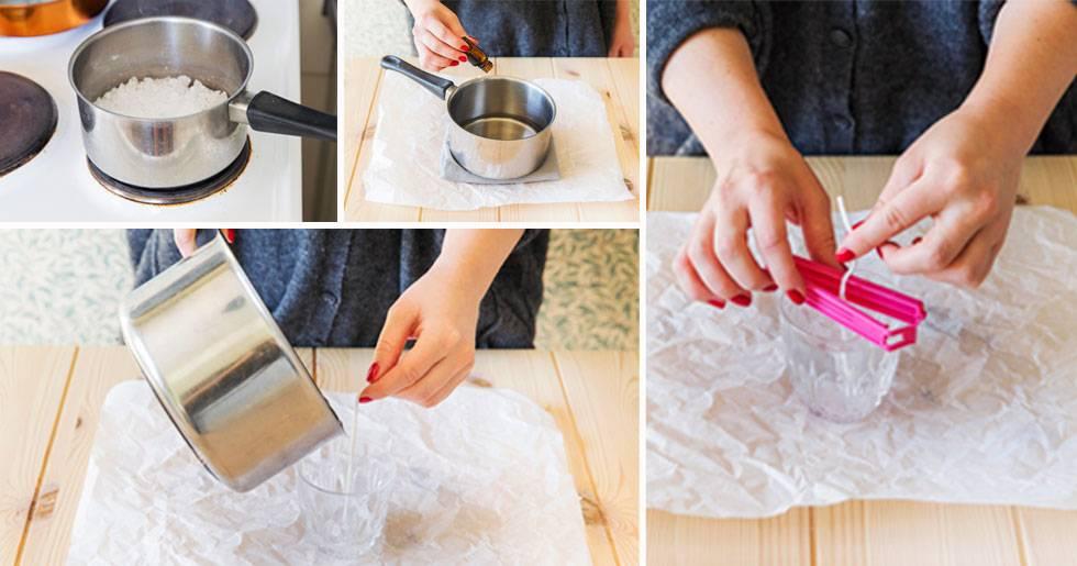 Bilder på hur man gör doftljus