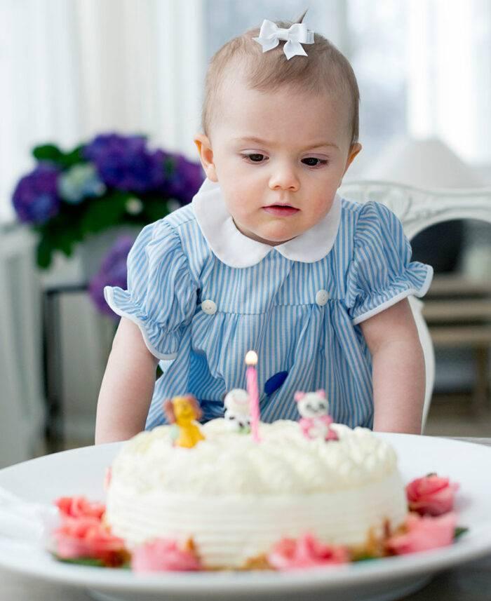 Prinsessan Estelle på ett-årsdagen.