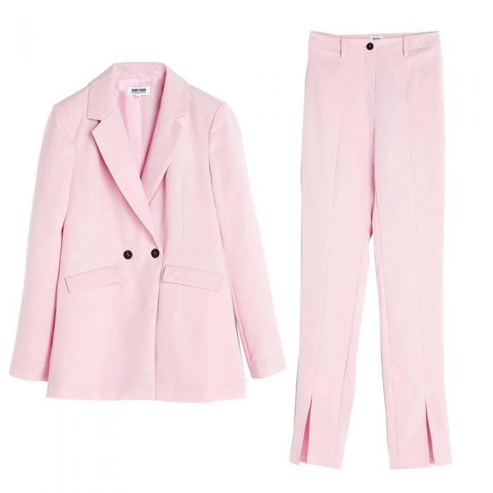 Rosa kostym från Bubbleroom, Carolina Gynnings kollektion