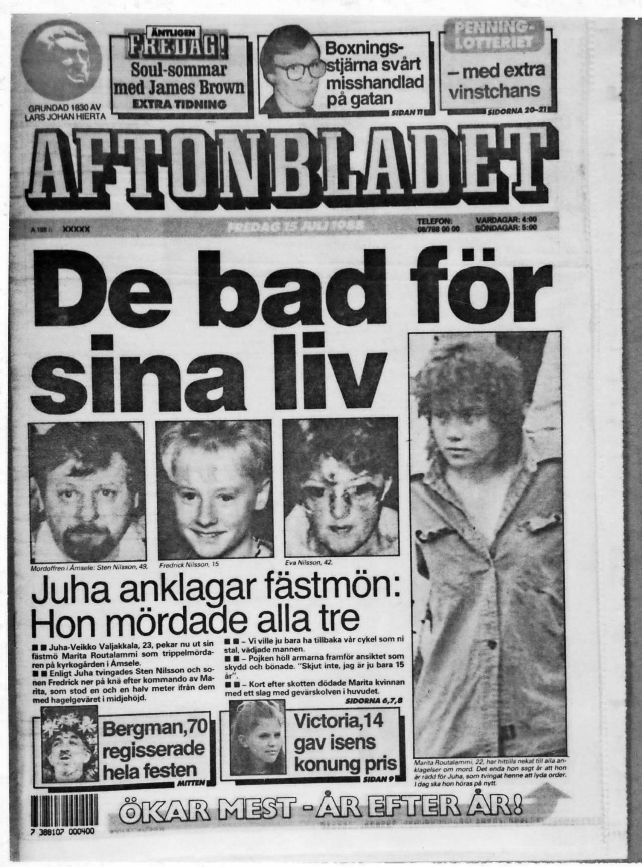 Aftonbladets löpsedel