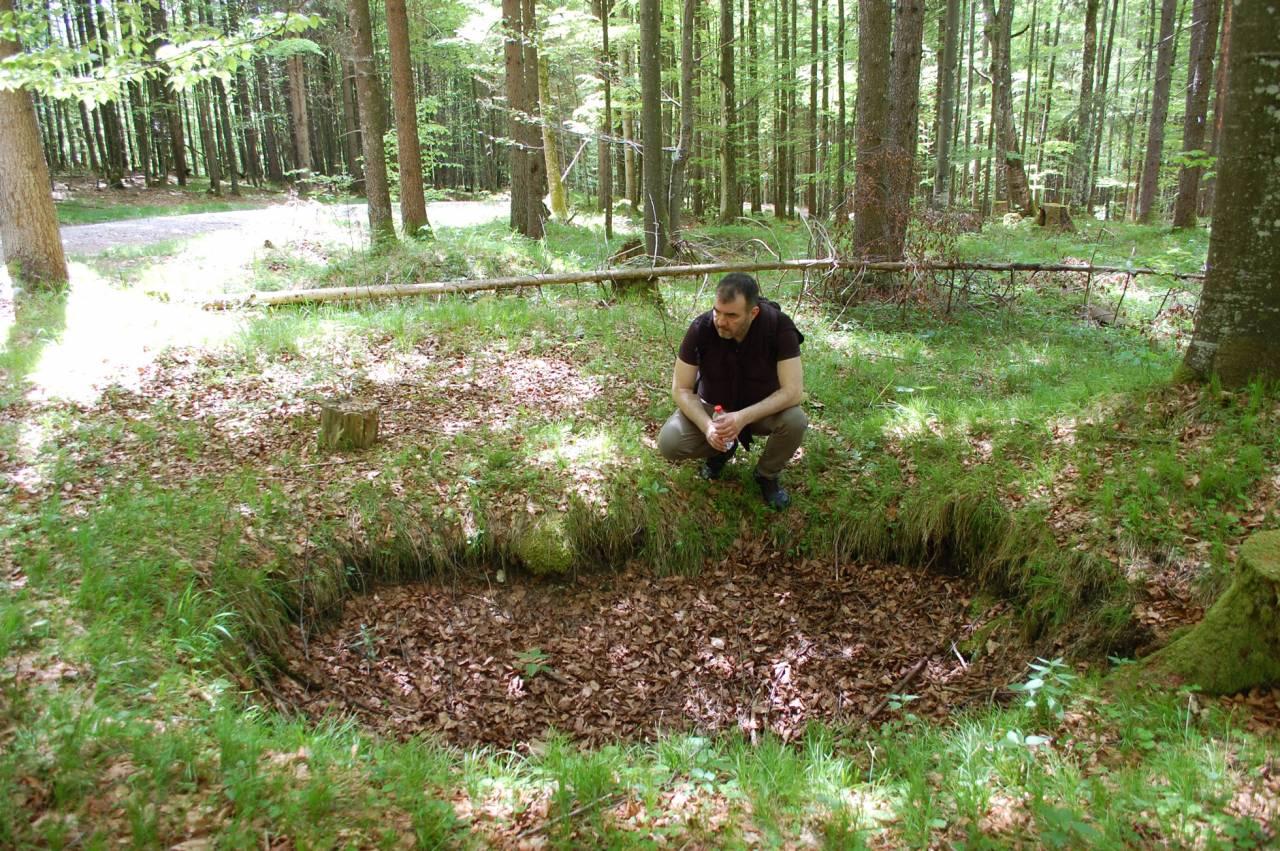 Marcus Wallén letar naziguld i Alperna
