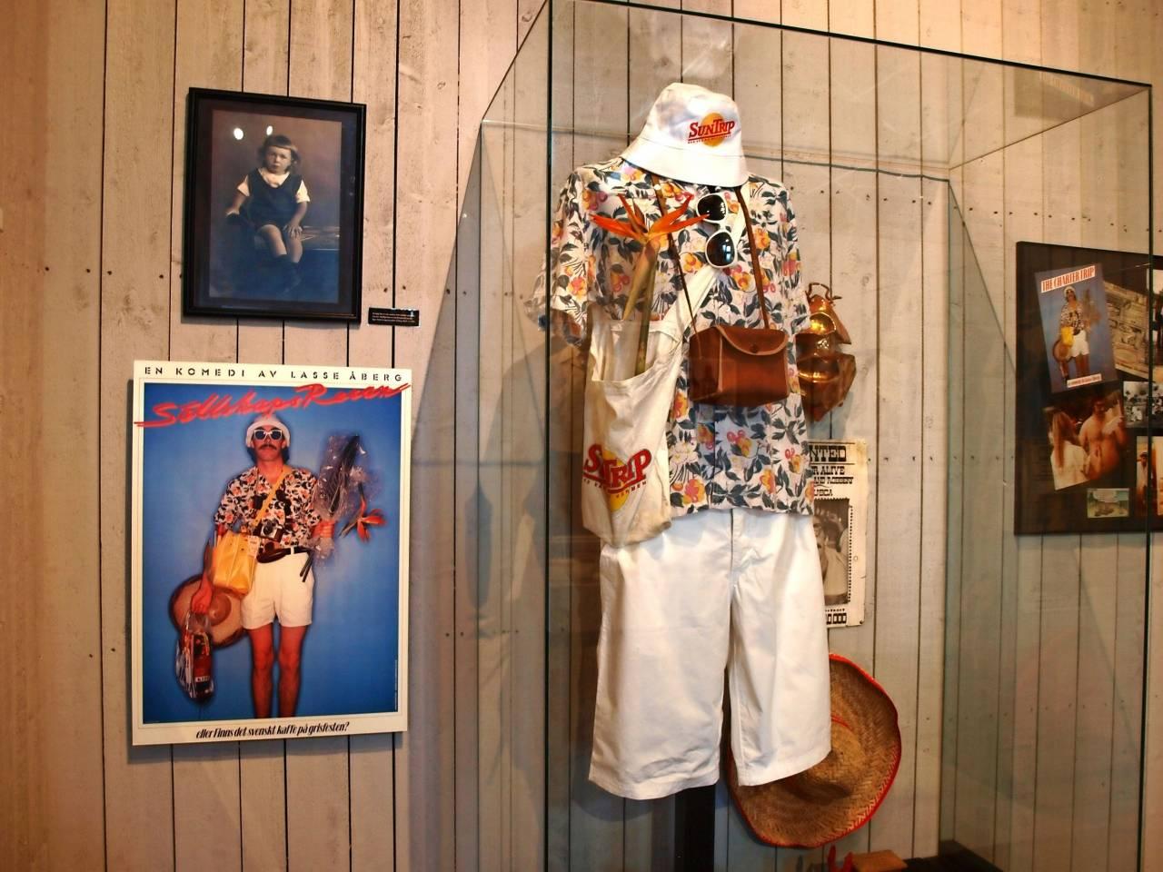 Delar av utställningen på Åbergs museum i Bålsta