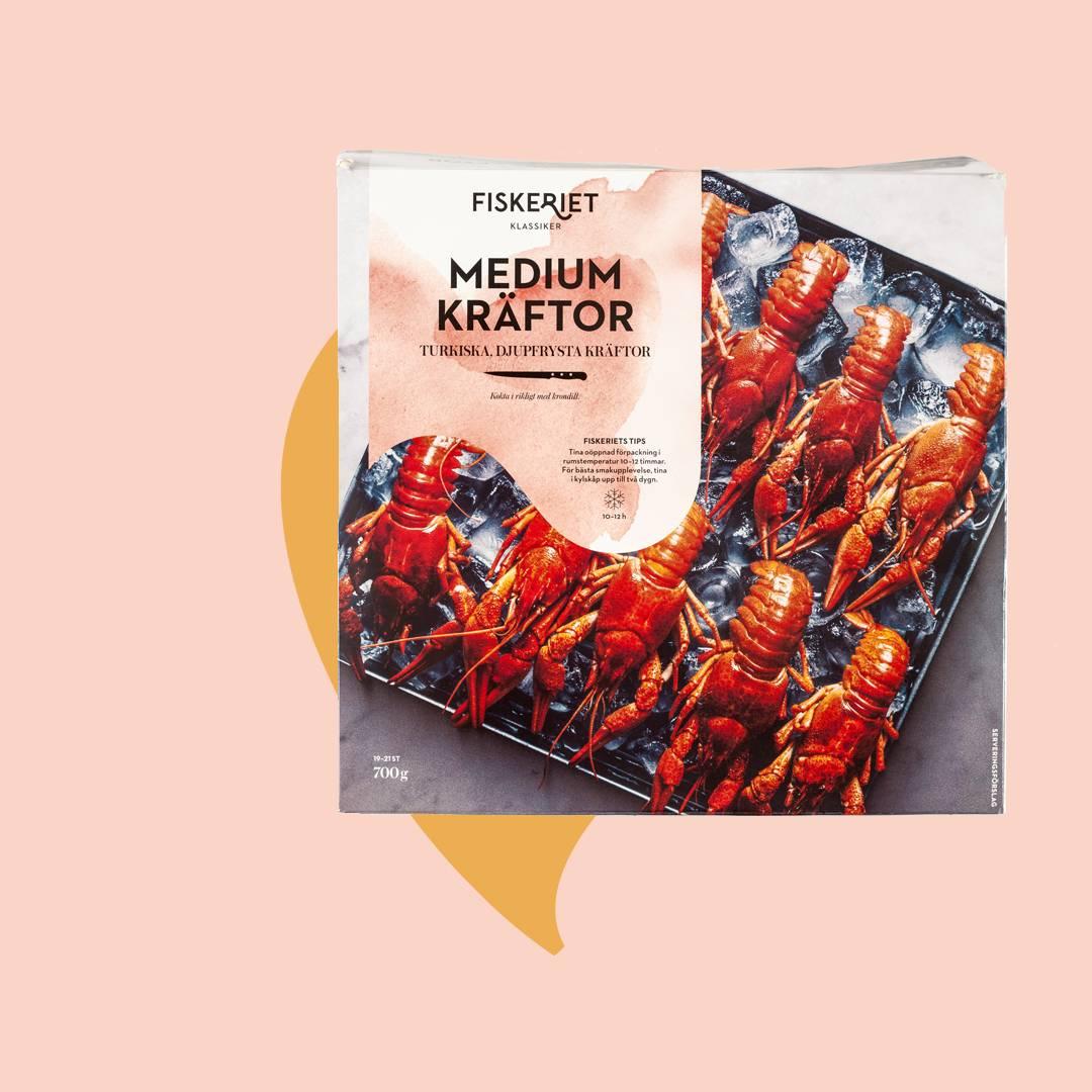 Kräftpaket från Fiskeriet medium djupfrysta kräftor