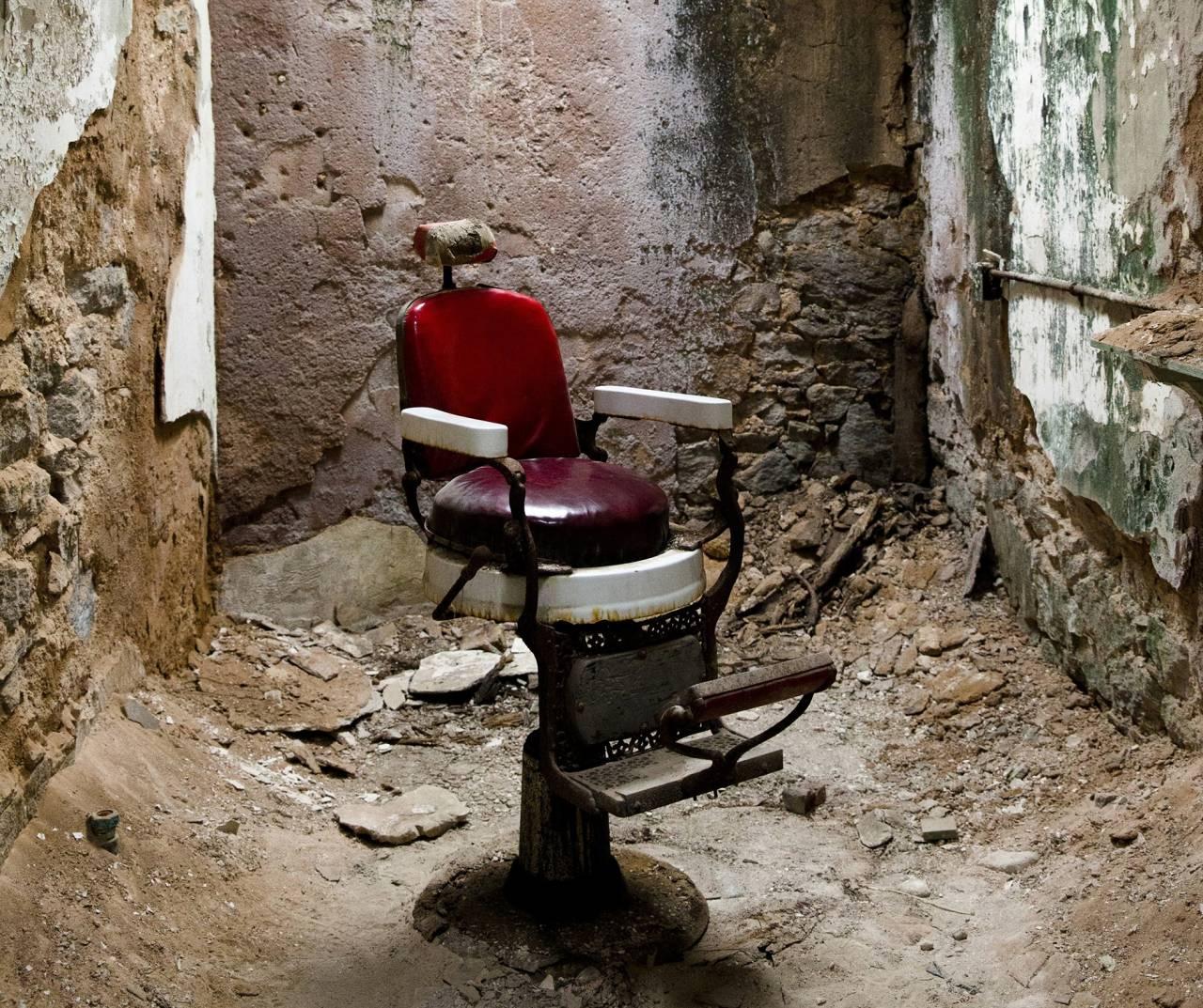 Stol i fängelset Eastern state i USA