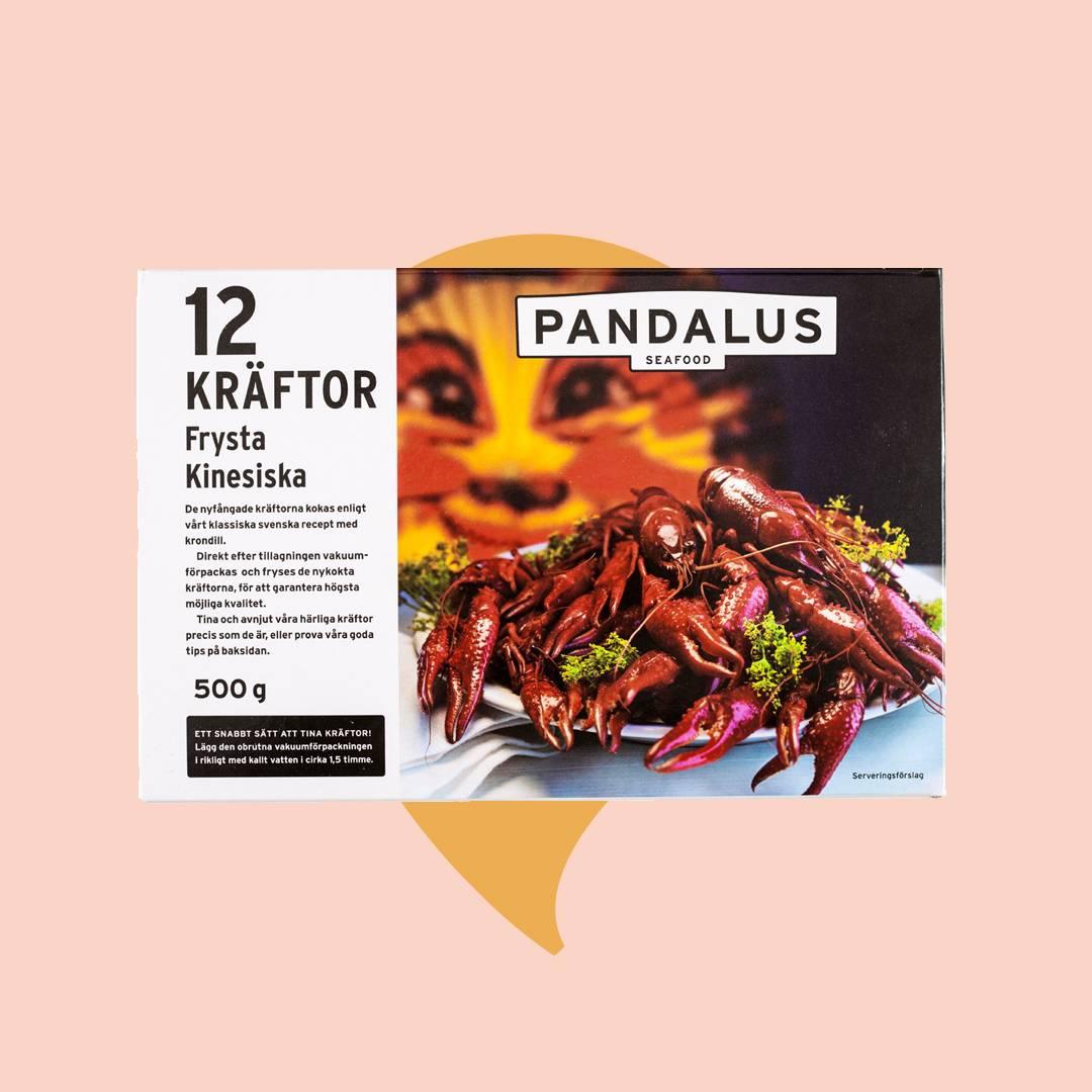 Kräftpaket Pandalus 12 frysta kräftor