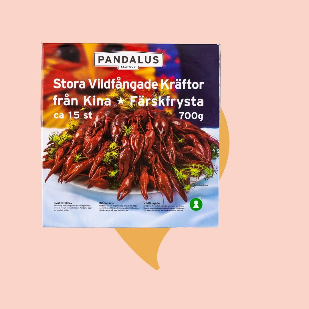 Kräftpaket Pandalus vildfångad frysta kräftor från Kina