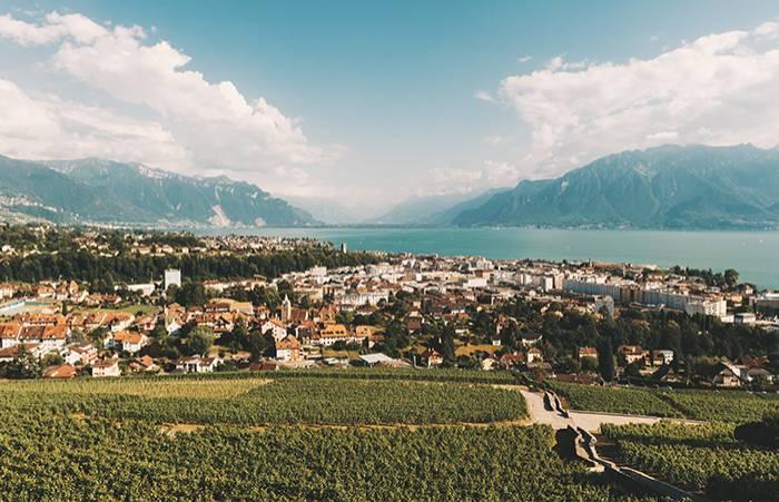 Vevey i Schweiz