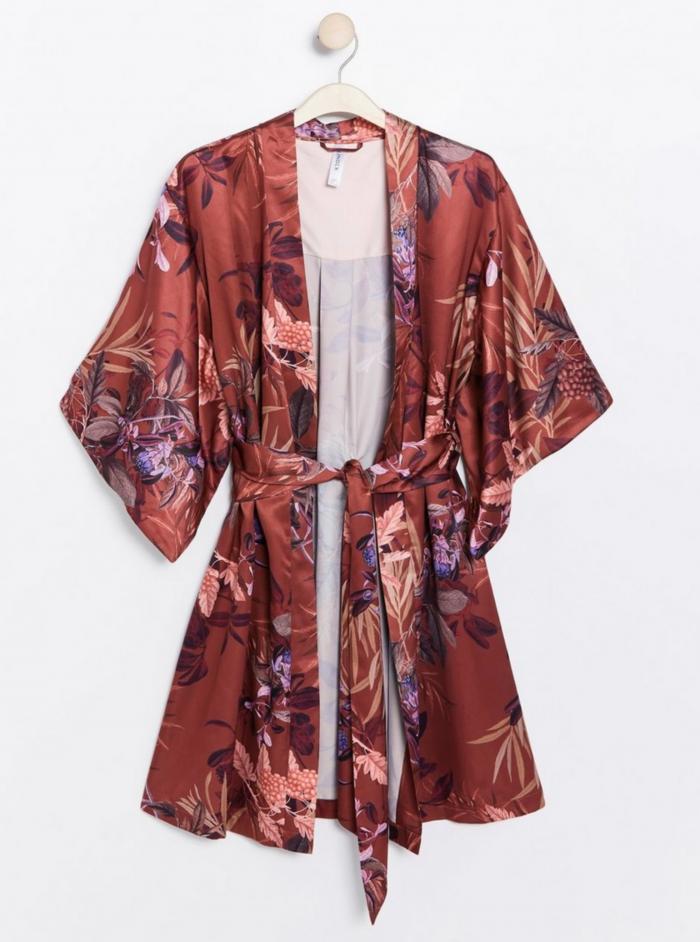 Mönstrad kimono från Lindex