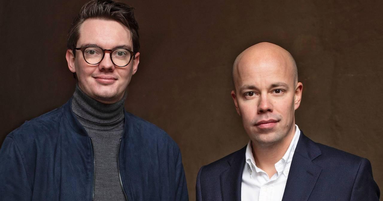 Författarna Gustav Almqvist och Fredrik Hjorth.