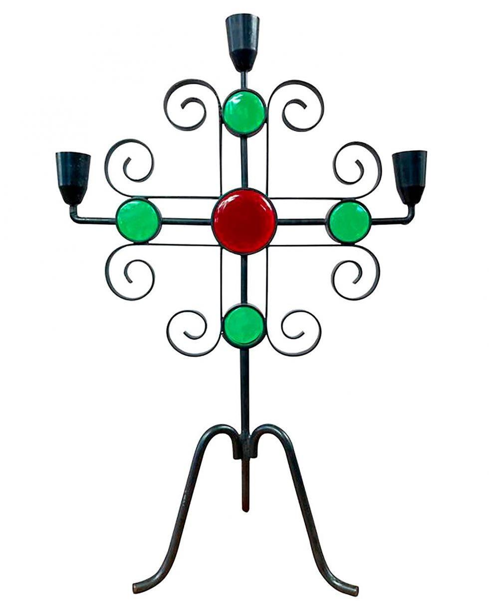 Smidesljusstake från Gunnar Ander, designad på 60-talet.
