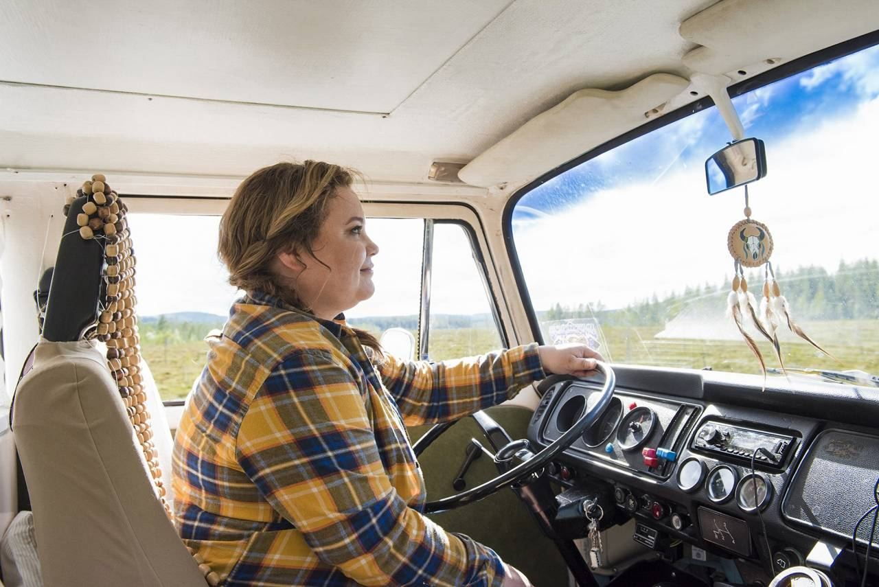 Tv-kocken Susanne Jonsson kör sin charmiga buss Hjördis