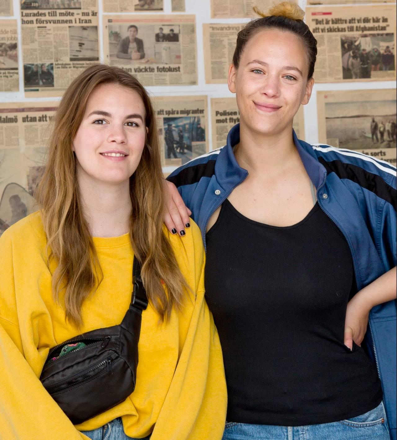 Mira Björkegren, projektedare och Bea Rundström, socionom arbetar tillsammans på Ensamkommandes Förbund, en mötesplats för nyanlända ungdomar.