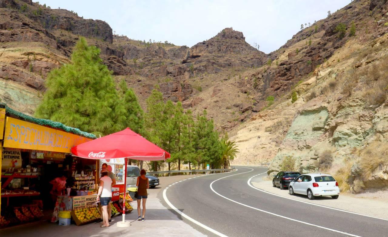 Vy från vägen Gran Canaria