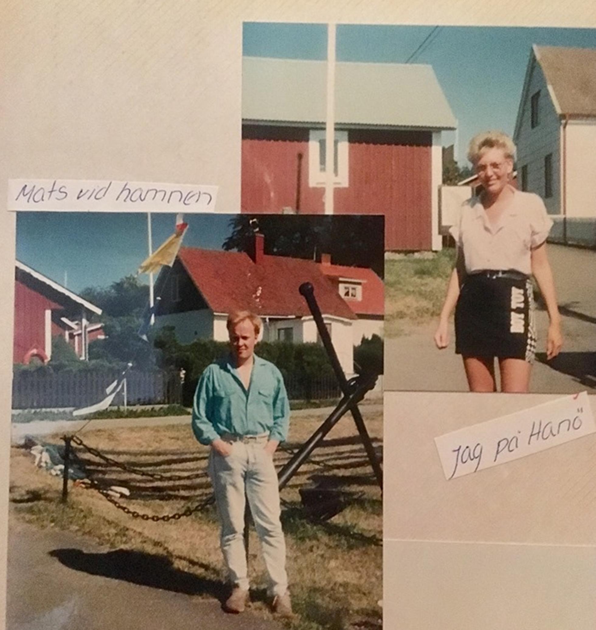 Mats och Pia på läger på Hanö, samma år som de förlovade sig.