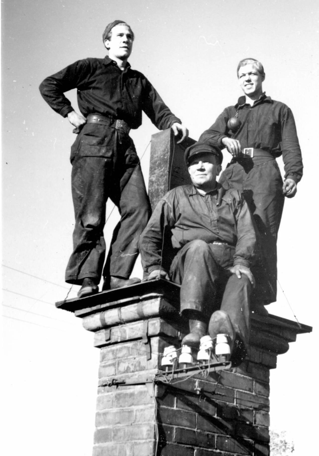Från vänster; Annettes far Alf Dahlström, Beorg Dahlström (hennes farfar) och Kjell Westerlund.
